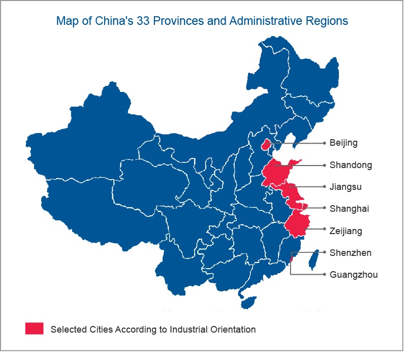 Chinese Provinces Map