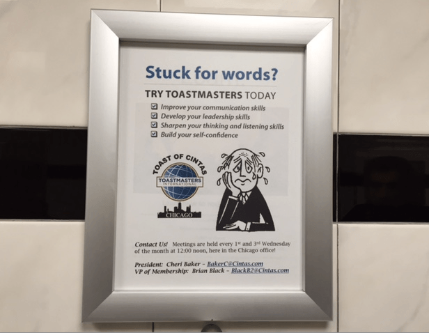 Toastmasters promotional strategy