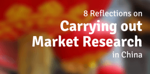 8 Reflections on market research in china