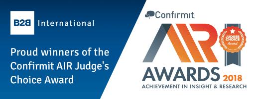B2B International Awarded Two Confirmit AIR Awards